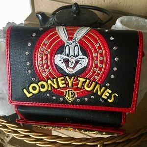 looney tunes BRACCIALINI Italian leather wallet.